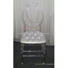 Chaise en plastique transparent Phoenix