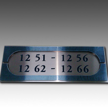 Placas de parede do hotel Metal Doorplate