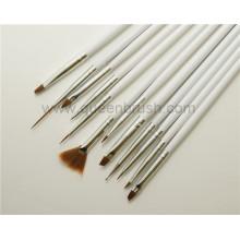 Hochwertige 12PCS hölzerne Nagel-Werkzeuge für Nagel-Künste