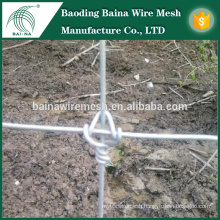 2.5mm / 3.0mm galvanized knitted wire mesh / field fence for glassland fence(made in china)