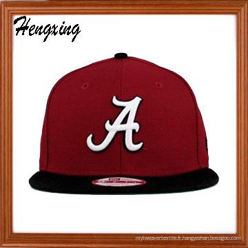 Red Snapback chapeau plat Bill casquettes plate casquette
