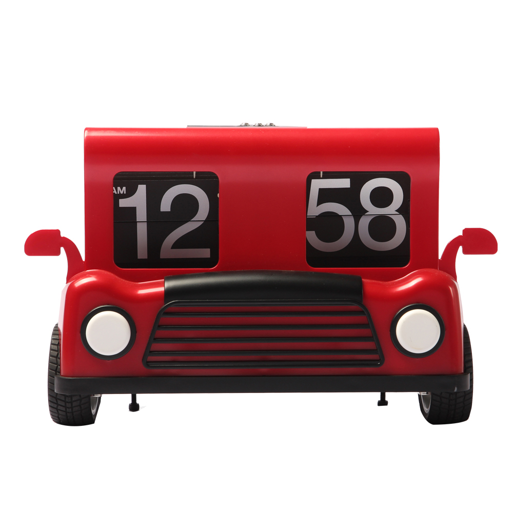 Small Toy-car-shape Flip Clock