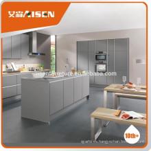 Suministro 2016 venta caliente manija libre alto brillo lacado gabinete de cocina