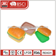 Airline Catering Plastic Lunch Box with Transparent Lid