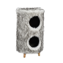 Very Warm Modern Cheap Pet Toy Interactive Durable Modern Cat Tree With Two Cave