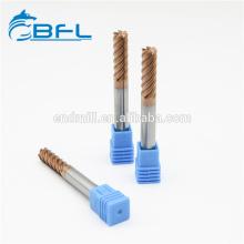 Cortadores de acabado de flautas de carburo sólido 6 BFL para máquinas herramientas CNC