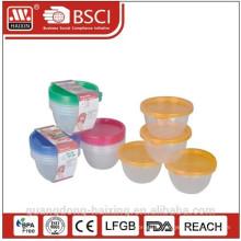 Rond alimentaire en plastique conteneur 0.45L(4pcs)