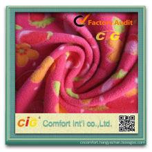 Fashion New Design AOP Polyester Fleece Fabric
