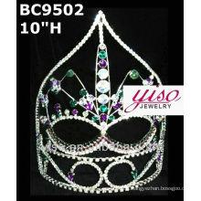 Grande máscara coroa e tiara