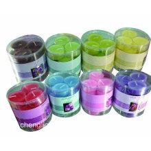 Vela Tealight perfumada com cores diferentes