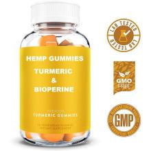 Gluten Free Turmeric Gummies Hemp Gummies with Turmeric & Bioperine