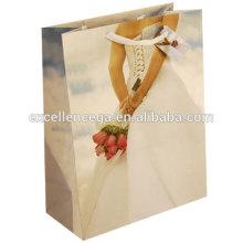 Sac en papier cadeau mariage porte