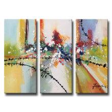 Vente en gros de peintures à l'huile de salon à la main