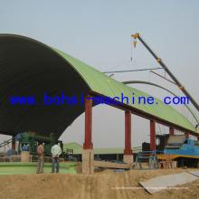 Bh1000-750 Construcción de máquina de proyecto de techo de arco de acero