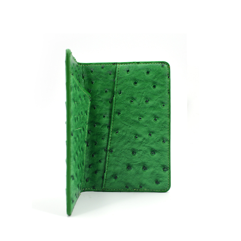 2020 New Trendy Multifunction Ostrich Leather Passport Holder