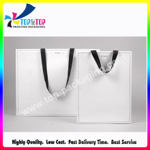 2016 OEM Factory Price White Color Printing Paper Cosmetic Bag