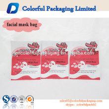 o saco cosmético plástico material da folha de alumínio personalizou o empacotamento facial da máscara