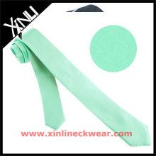 Solide Auqa Extra lange Polyesterkrawatte