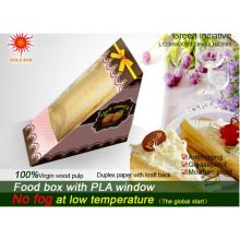 Triangle Paper Food Box Packaging with Anti-Fog Window