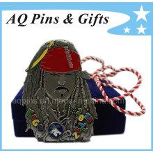 Medalla de los Piratas del Caribe con cordón