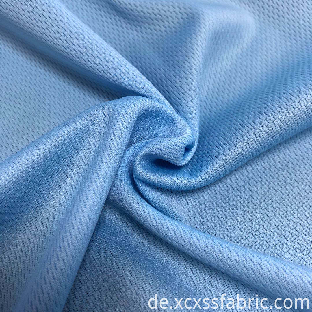plain dyed Polyester bird eye mesh knitting Fabric