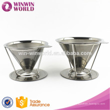 Hot Selling Promotional Christmas Gift Paperless PourOver Coffee Dripper With Fine Stainless Steel Mesh Micro Filter