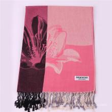 Women′s Pink Scarf Winter Warm Pashmina 170*68cm