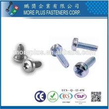 Taiwán de acero inoxidable de óxido de zinc torx 20 cabeza de la cacerola con 2-3 hilos de rosca Trilobular Tornillo