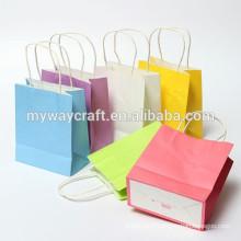 Sac à papier en papier recyclable sac à papier cadeau petit sac de papier pour souvenir