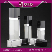 L050 forma quadrada garrafa de plástico acrílico, frasco de perfume spray