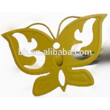 Amarelo pintar pintura cortina finial borboleta decorativa cortina rod