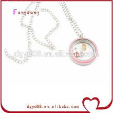 Moda feminina jóias inoxidável charme pingente de pingente de esmalte