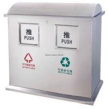 Public Stainless Steel Waste Bin (DL108)