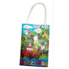 regalo y arte, con la bolsa de papel de pintura del bolso de la Navidad del regalo del creyón