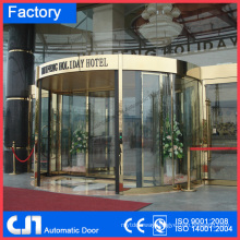 Hotel Building 2 Wings Automatic Glass Revolving Door