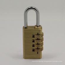 4 Dials Brass Combination Padlocks Code Locks Password Pad Lock (110284)