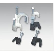 Зажим для плоского двойного кабеля и кабеля заземления из полипропилена