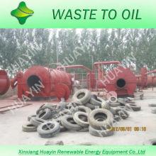 Alta velocidad de salida de aceite y buena planta de equipos de pirólisis de neumáticos Condensadores en maquinaria con CE e ISO
