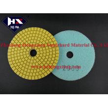 Suave almohadilla de pulido de diamante flexible húmedo para mármol y piedra