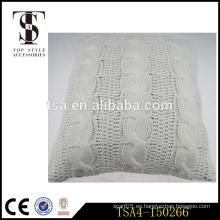 Tapa de punto blanca del diseño del torcedura para la almohadilla de la decoración del cojín del asiento del piso / del estadio