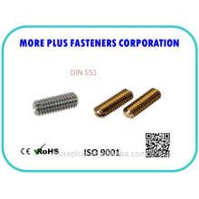 DIN551 con tornillos de ranura ranurada Ende