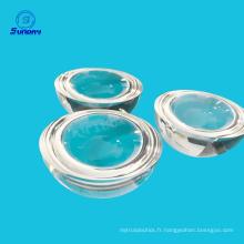 Lentille de boule de 12mm et lentille superhémisphère de silice fondue