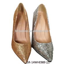 SR-14WHE989 (2) el alto talón del partido calza los zapatos del alto talón de las señoras del brillo de los zapatos del alto talón de las señoras