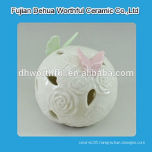 Mini butterfly design ceramic ball decoration with LED