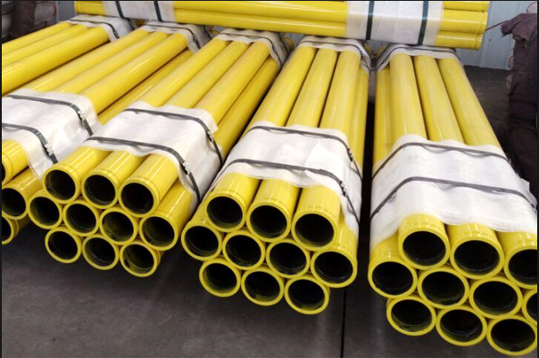 Yellow Concrete Pump Harden Pipe