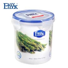China Atacado Boa Selagem Caixa De Embalagem De Alimentos: Cilindro BPA Livre PP Recipiente De Alimento De Plástico Transparente com Tampa 700 ML / 23 oz