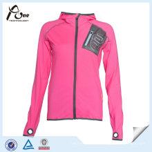 100 jaqueta de esportes de moda poliéster casaco de corrida para as mulheres