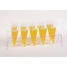 Ogival Bottom Cup 3.5 oz con base de cono acrílico para 12 Cone Cup