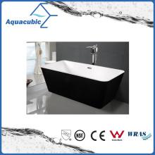 Black Surround Square Free-Standing Acrylic Bathtub (AB1506B)
