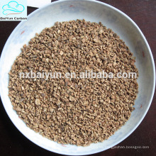 Medio filtrante granular de la cáscara de la nuez del diverso tamaño para el tratamiento de aguas residuales
